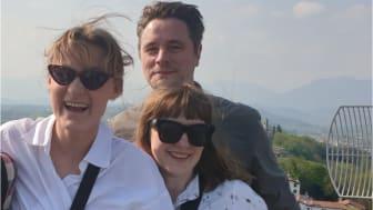 De tre delägarna Emilia Wahlström, Elsa Holmberg och Tobias Holmberg.