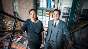 General Manager på Turbine Hotel My Öhrn tillsammans med lika positiva Felix Fuchs, VD på Steam Hotel