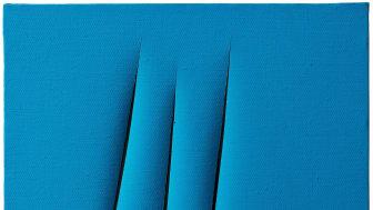 """Lucio Fontana - """"Concetto Spaziale, Attese"""". Fördjupa dig i Fontana på Modern Art + Design - sex verk till försäljning"""
