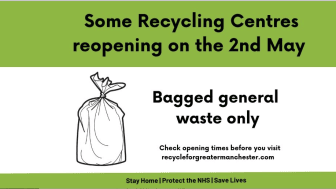 Bagged 'grey bin' waste only! Please work with us at the re-opened recycling centre