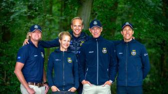 Det svenska EM-laget i hoppning finns bland ryttarna som kommer till Friends Arena. Foto: Roland Thunholm (ej fri för publicering)
