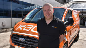 Ben with his new Ford Transit Custom