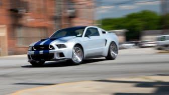"""Ford Mustang får hovedrollen i den kommende filmen """"Need for Speed"""" - tilsammen har modellen opptrådt i nesten 3000 filmer og TV-program"""
