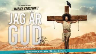"""Marika Carlsson ger efter för publiktrycket och släpper extra föreställningar av """"Jag är Gud"""" i höst"""
