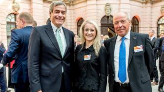 Ingo Kramer (Präsident BDA), BdS-Hauptgeschäftsführerin Andrea Belegante, Alfred Gaffal (Präsident vbw)