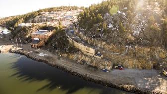Med panoramautsikt över Stockholms inlopp - Telegrafberget i Nacka. (Foto: Fredrik Lindgårdh)