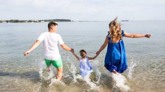 Die seicht abfallenden Sandstrände von Kiel eignen sich optimal für Familien