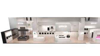 Gorenje er tilbage på LivingKitchen – IMM i Køln. Fokus på hvidevarer til indbyg af højeste kvalitet.
