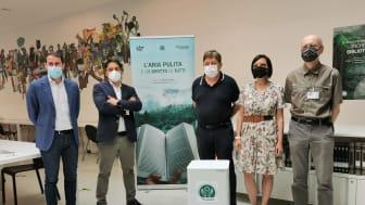 Giacomo Ghilardi (Mayor of Cinisello Balsamo), Luciano Rogato (Managing Director of Camfil Italy), Moreno Veronese (Manager of the Culture sector), Daniela Maggi (Councilor for Culture), Giulio Fortunio (Library Manager)