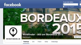 Winefinder.se startar förhandsbokning av Bordeaux 2015 och lanserar Facebookgrupp för Bordeauxälskare