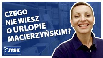 Macierzyństwo w JYSK Polska - nowy odcinek #JYSKvlog