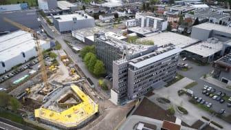 Schüco satsar stort på utbyggnaden av huvudsätet i tyska Bielefeld