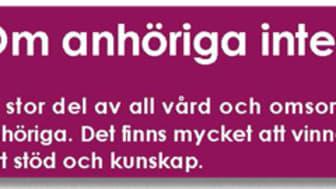Pressinbjudan - Mötesdag om anhörigfrågor i Sundsvall