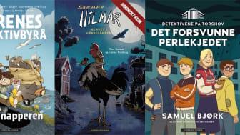 Krim for barn er i vinden. Cappelen Damm lanserer hele tre nye serier for aldersgruppen 9-12 år: Dyrenes detektivbyrå, Snushanen Hilmar og Detektivene på Torshov.