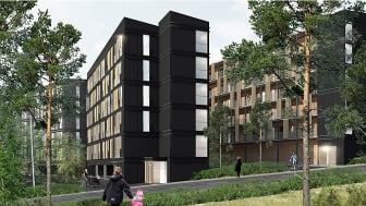 Flere boliger til den svenske ungdom   Arkitema Architects vinder konkurrencen om 124 ungdomsboliger i Tullinge skov syd for Stockholm