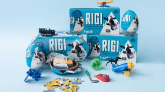 Äntligen tar den klassiska RIGI Mjölkchokladen en ny form! - låt oss presentera RIGI Ägg!