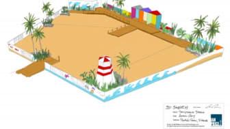 Artistic impression of the Urban Beach Design