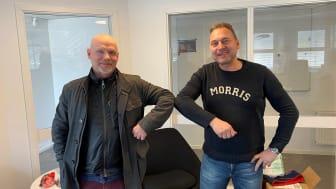 Thomas Kruse vd Mellansvenska Fasad och Peter Leek vd M&P