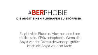Social Media - Post der Felix Burda Stiftung anlässlich der Eröffnung des Hauptstadtflughafens BER Berlin Brandenburg
