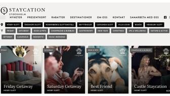 Succéstart för Staycation Stockholm – en samlingssajt för hotellweekends på slott och herrgårdar