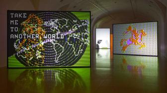 Malmökonstnären Charlotte Johannessons utställning visas i Madrid fram till den 17 augusti. Foto: Installationsvy, Museo Reina Sofía