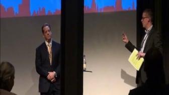 Einar Janson talar på konferens om stambyten