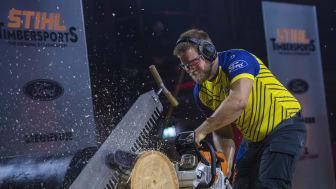Tuff konkurrens för svenskarna i premiären av den internationella tävlingssäsongen i STIHL TIMBERSPORTS®