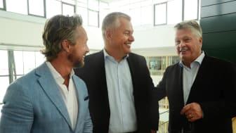 Lars Kry, CEO Sigma IT Consulting, ThomasGoréus, CEOAssistera, Dan Olofsson, owner Danir. Photo: Linda Walldoff
