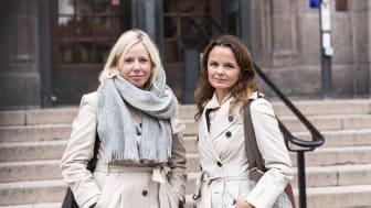 Madeleine Sundell, Frälsningsarmén, och Silvia Ingolfsdottir Åkermark, Brottsbyrån.