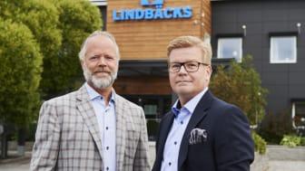 Stefan Lindbäck, VD Lindbäcks Group, och Magnus Edin, VD Lindbäcks Bygg.