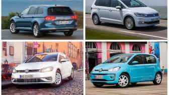 Passat, Touren, Golf og up! blev de mest solgte modeller i hver deres segment.