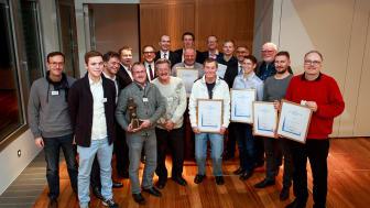 Gruppenfoto der Gewinner