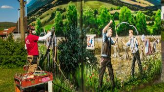 Kunst am Trafo: Die Sage von Schönderling!