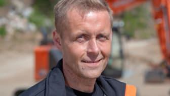 Jörgen Marklund startade Hund & Entreprenad AB tillsammans med sambon. Foto: Mats Thorner