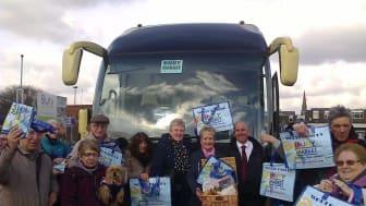 Coach visitor to Bury Market receives surprise hamper