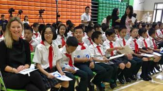 Sara Alsén besöker Shanghai i arbetet med programmet Clean Air for Children