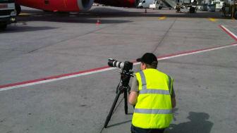 Sizing up a shot at Frankfurt Airport #Cavotecfilm