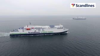 """Scandlines' hybridfærger """"Copenhagen"""" og """"Berlin"""" på ruten Gedser-Rostock"""