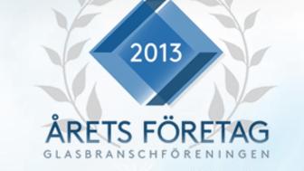 Årets företag i glasbranschen, logotype
