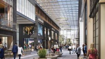 ZÜBLIN hat mit den umfassenden Umbau- und Revitalisierungsarbeiten der Potsdamer Platz Arkaden in Berlin-Mitte begonnen. (Bildnachweis: Brookfield Properties)