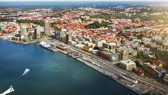 Visionsbild över Masthuggskajen, Kanozi Arkitekter