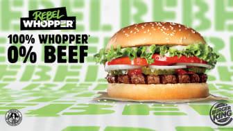 100% Whopper og 0% kjøtt:  Rebel Whopper lanseres i Norge