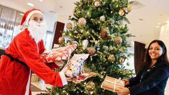 Ensam julgran på Clarion Arlanda