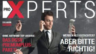 Deutsches Gutachter Magazin proXPERTS: Die neue Ausgabe Januar/2015 ist ab sofort online erhältlich!