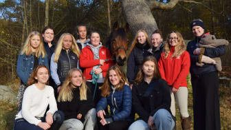 Årets ungdomssektion från Billdals Ridklubb. Foto: Privat