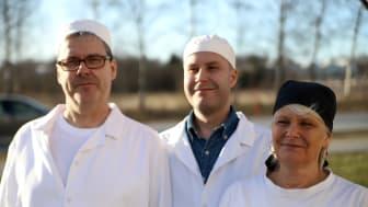 Johan, Emil och Anette Wallin, Familjen Wallins Mat. Fotograf: Anna Lorentzon