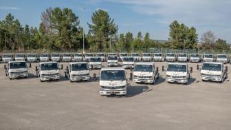 DB Schenker utökar sin elektriska flotta med 36 nya ellastbilar