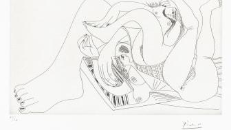 Pablo Picasso: 18. august 1968. Streketsning på papir. © Succession Pablo Picasso / BONO 2019 Foto: Nasjonalmuseet for kunst, arkitektur og design