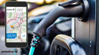 pinDeliver lanserar funktion för eldrivna fordon som underlättar för hållbara leveranser inom e-handeln