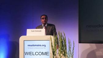 Keynote von ICANN-Chef Fadi Chehadé auf der newdomains 2013